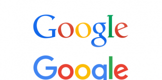 Google logo old and new