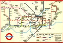 The London underground map