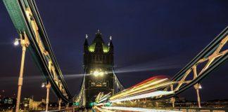 long exposure of London's Tower Bridge using iPhone 8 Plus